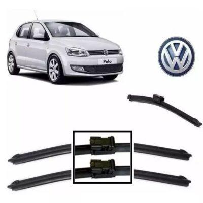 Kit Palheta Limpador Silicone - VW - Polo 2010 até 2016 - Traseiro - Curitiba